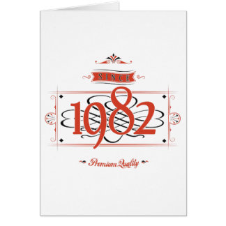 Since 1982 (Red&Black) Card
