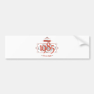 Since 1985 (Red&Black) Bumper Sticker