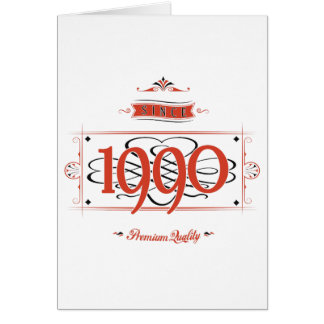 Since 1990 (Red&Black) Card