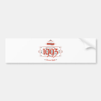 Since 1993 (Red&Black) Bumper Sticker