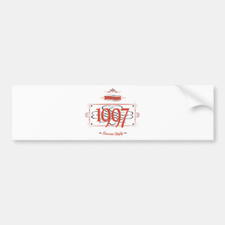 Since 1997 (Red&Black) Bumper Sticker