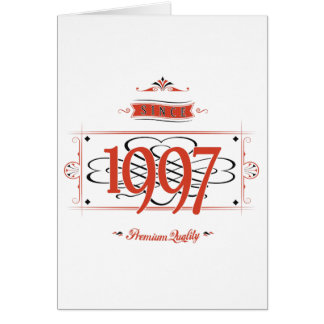 Since 1997 (Red&Black) Card