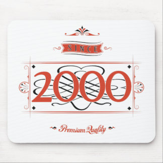 Since 2000 (Red&Black) Mouse Pad