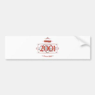 Since 2001 (Red&Black) Bumper Sticker
