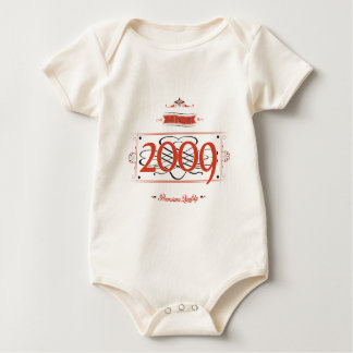Since 2009 (Red&Black) Baby Bodysuit