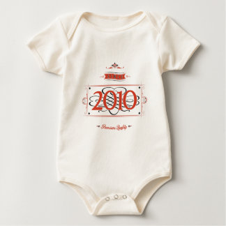 Since 2010 (Red&Black) Baby Bodysuit