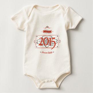 Since 2015 (Red&Black) Baby Bodysuit