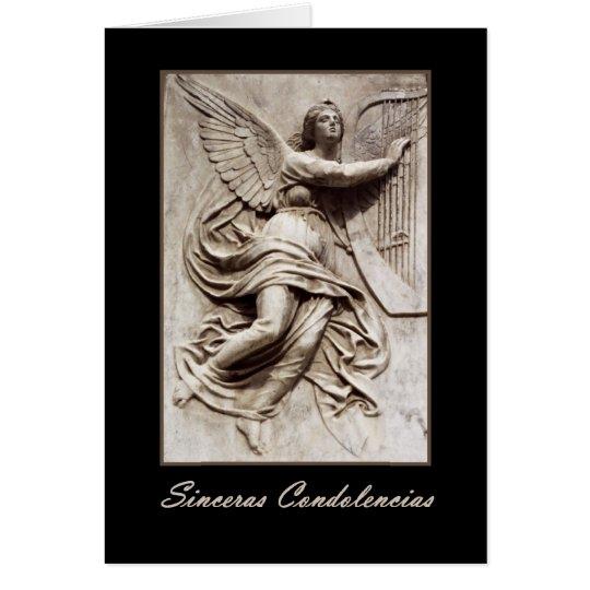 Sinceras Condolencias ANGEL Spanish Sympathy Card