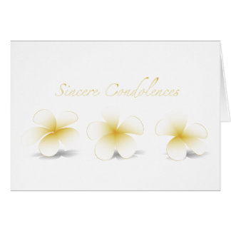 Sincere Condolences Greeting Card - Plumeria