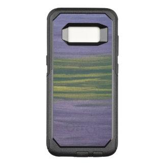 Sincere Stylish Purple Lavender Lime Green Striped OtterBox Commuter Samsung Galaxy S8 Case
