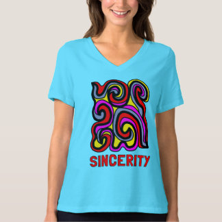 """""""Sincerity"""" Women's Relaxed Fit V-Neck T-Shirt"""