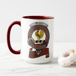 Sinclair Clan Badge Combo 15oz Mug