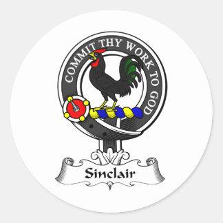 Sinclair Clan Crest Classic Round Sticker