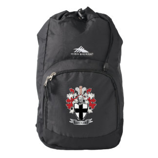 Sinclair Family Crest Coat of Arms Backpack