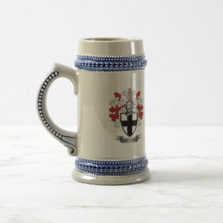 Sinclair Family Crest Coat of Arms Beer Stein