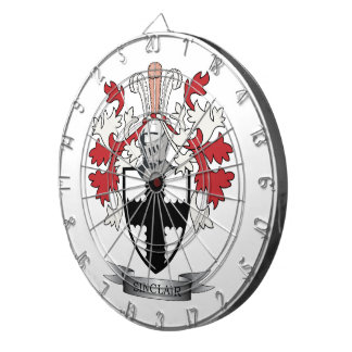 Sinclair Family Crest Coat of Arms Dartboard