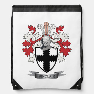 Sinclair Family Crest Coat of Arms Drawstring Bag