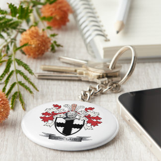 Sinclair Family Crest Coat of Arms Keychain