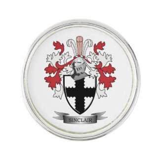 Sinclair Family Crest Coat of Arms Lapel Pin