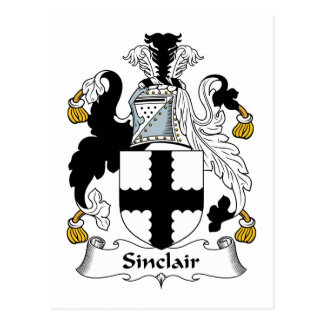 Sinclair Family Crest Postcard