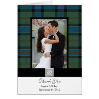 Sinclair Tartan Photo Wedding Thank You Card