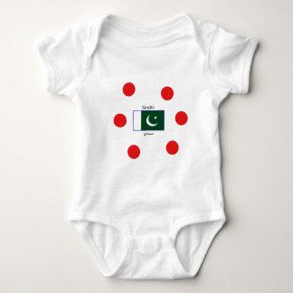 Sindhi Language And Pakistan Flag Design Baby Bodysuit