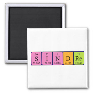 Sindre periodic table name magnet