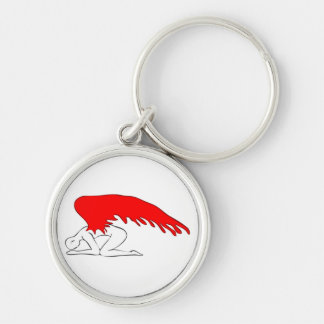 Sinful Angel Silver-Colored Round Keychain