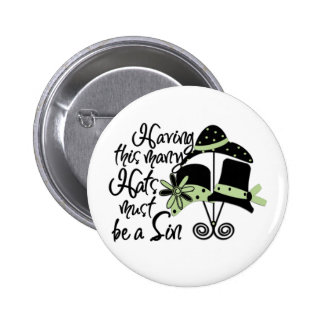 Sinful Hats Pinback Buttons