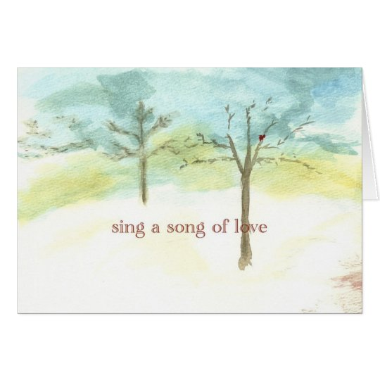 sing a song of love card