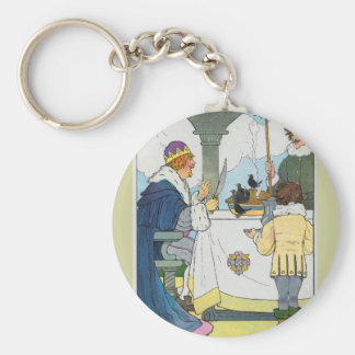 Sing a song of sixpence, A pocket full of rye Basic Round Button Keychain