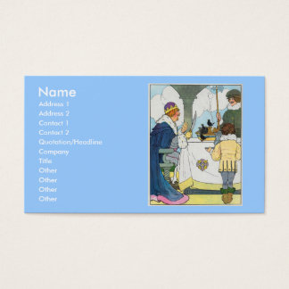 Sing a song of sixpence, A pocket full of rye Business Card