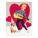 Sing along and be my Valentine Post Cards