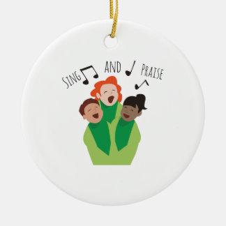 Sing and Praise Ceramic Ornament