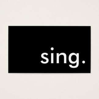 sing. business card