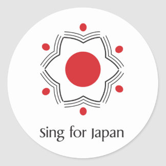 Sing for Japan - logo merchandise Classic Round Sticker