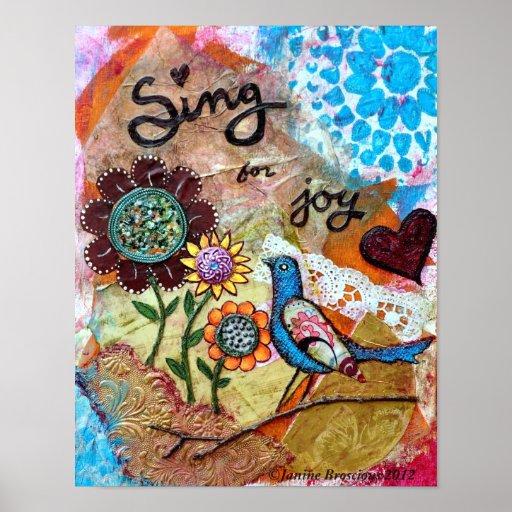 Sing for Joy Art Poster