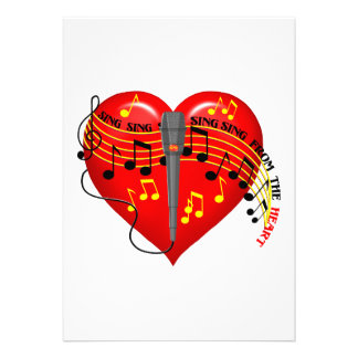 Sing From the Heart Invitations