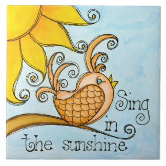 Sing In The Sunshine Ceramic Tiles