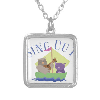 Sing Out Silver Plated Necklace