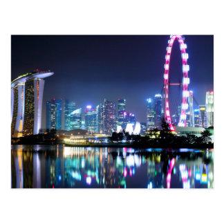 Singapore at Night Postcard
