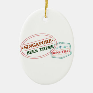 Singapore Been There Done That Ceramic Ornament
