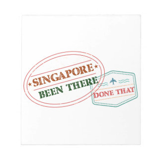 Singapore Been There Done That Notepad