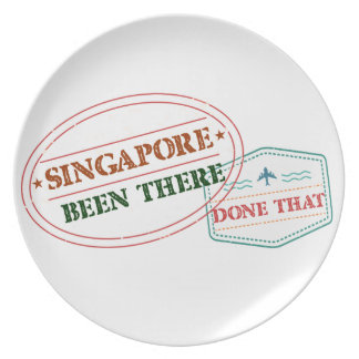 Singapore Been There Done That Plate