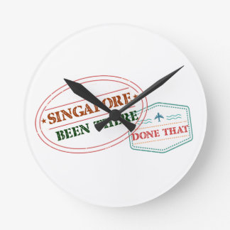 Singapore Been There Done That Round Clock