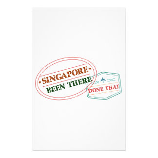 Singapore Been There Done That Stationery