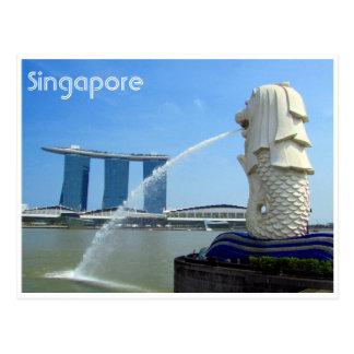 singapore casino merlion postcard