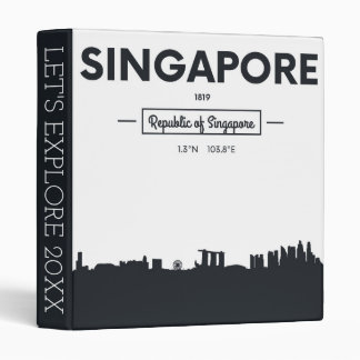 Singapore, China | City Coordinates 3 Ring Binders