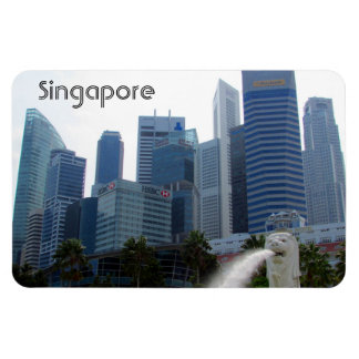 singapore city merlion magnet