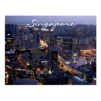 singapore city postcard